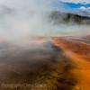 Grand Prismatic Spring shadowed in steam, YNP