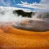 Orange bands surround Grand Prismatic Spring, YNP