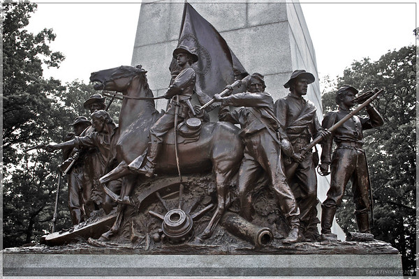 The Virginia Monument on Seminary Ridge.