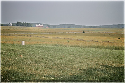 A view across the battlefield.  This barn was a point of reference from several places along the driving tour.