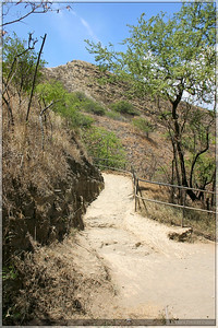 The trail up to the top of the rim of the crater was very dusty and steep. It made for quite a trek up.
