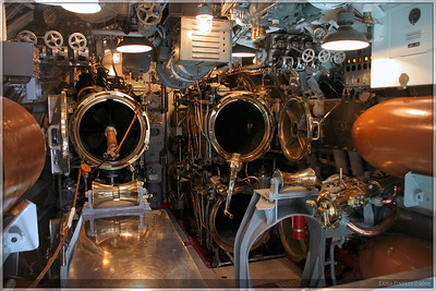 This is one of the torpedo bays on the sub.