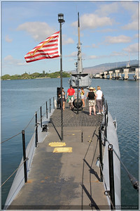 A look of the USS Bowfin from the deck.