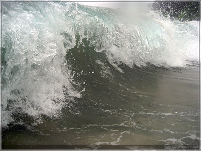 I took my waterproof camera out with me in the waves.  This was my favorite shot out of the bunch.
