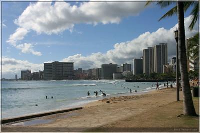 We walked a bit along Waikiki beach.