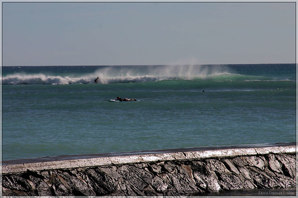 Like most beaches I saw, there were some surfers trying to catch a few waves.