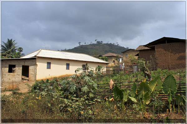 We passed this village while driving back down the mountain.