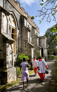 Barbados: Choir Members, Anglican Church