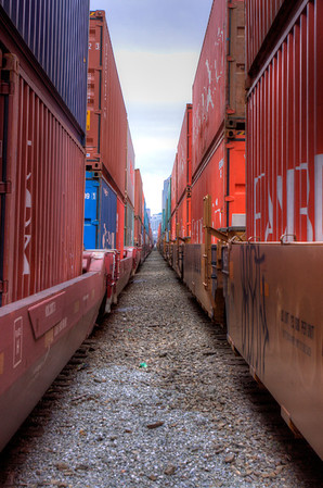 Trucks and trains