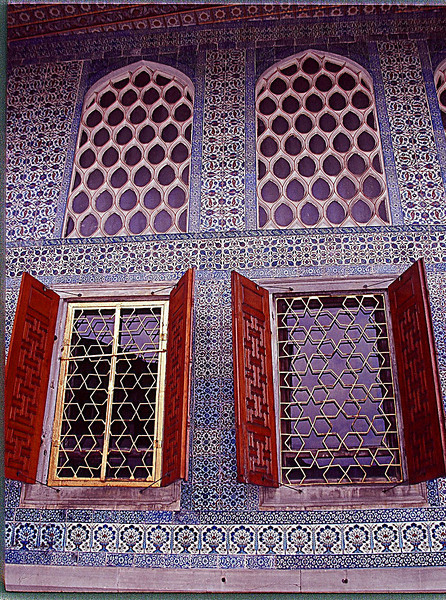 Window inside Harem House in Istanbul