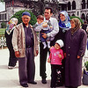 Family outside of Blue Mosque in Istanbul.