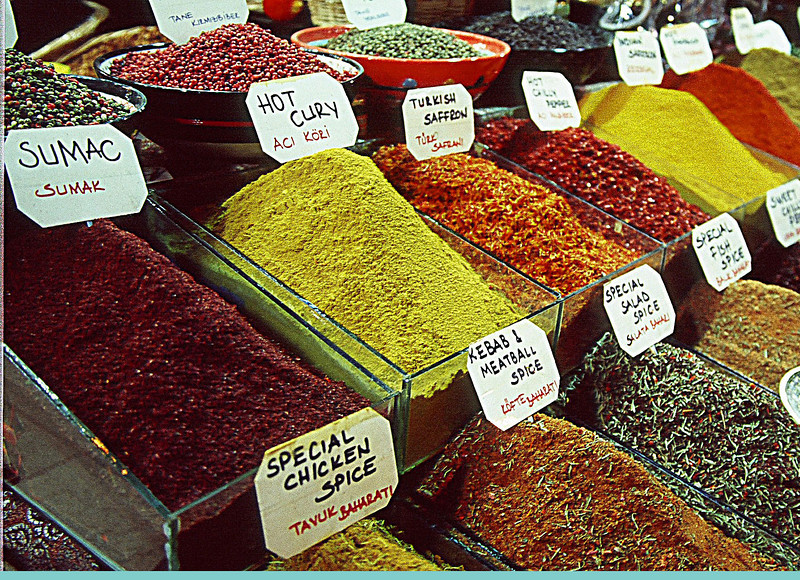 Spices in local market
