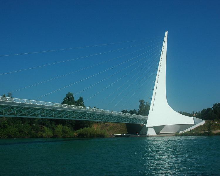 Turtle Bay Sundial Bridge, Redding Ca. 7/06