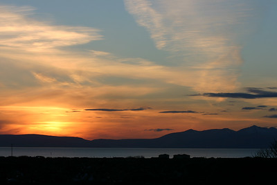 Wide angle view of Arran