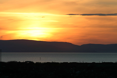 Sun setting over the south of Arran