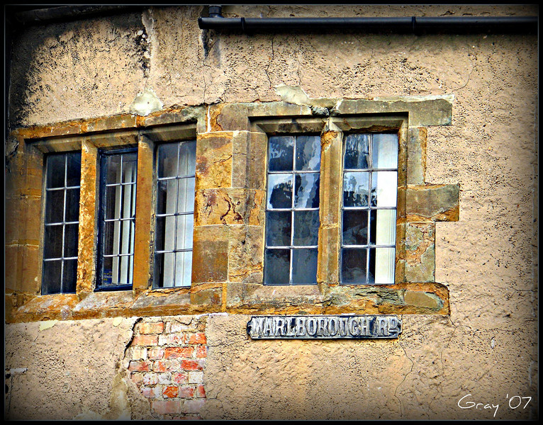 Reflections of Marlborough Road; Banbury, England   <b>Copyright ©2009 Florence T. Gray. This image is protected under International Copyright laws and may not be downloaded, reproduced, copied, transmitted or manipulated without written permission.</b>
