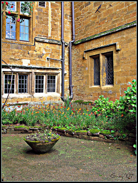 "My ""Private"" Retreat, Wroxton Abbey <br /> I am unaccountably happy when in this little courtyard.  I wonder who else loved it throughout the centuries..."