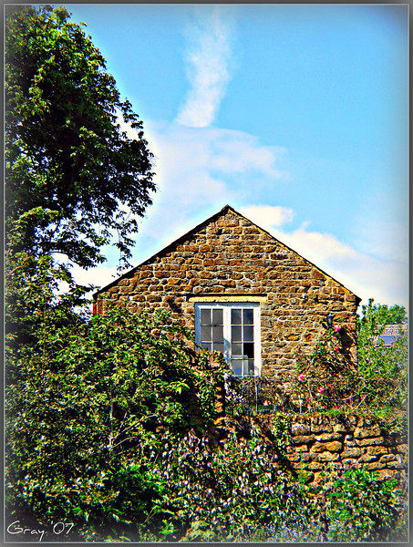 Cottage and Clouds <br /> Wroxton, England