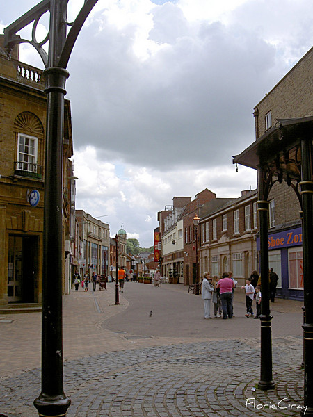 Streetlife, Banbury, Oxfordshire, UK <br /> A beautiful city under a beautiful sky