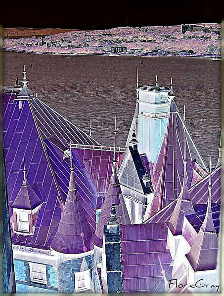 Frontenac Roofs and St. Lawrence River