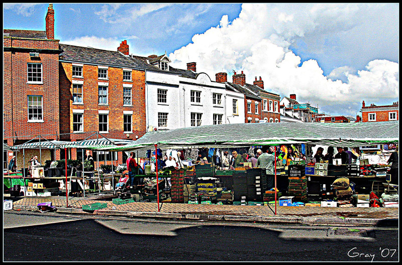 Clouds over Banbury, Market Day