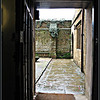Rainy Morning View <br /> Basement doorway to my secret garden at Wroxton Abbey