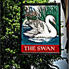 Swanshadow, Banbury <br /> I really love the shadow of the church on the pub sign!