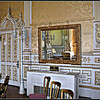 Not Just ANY Classroom <br />  The Regency (Gold) Room. Originally intended as the Great Dining Room, the ceiling was redecorated in the 19th century to mark the visit to Wroxton of the Prince Regent (later George IV).  The door at the far left leads to the royal bedroom where King James, among other royal and political luminaries, stayed.