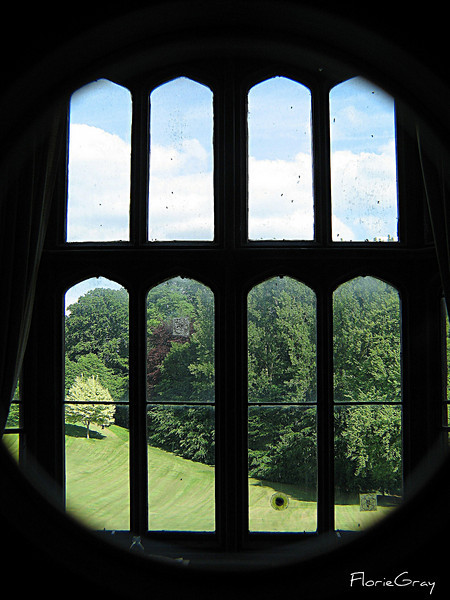 Through the Bedroom Window; Wroxton Abbey, Oxfordshire   <b>Copyright ©2009 Florence T. Gray. This image is protected under International Copyright laws and may not be downloaded, reproduced, copied, transmitted or manipulated without written permission.</b>