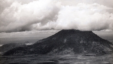 Anothe shot of Nui Ba Den, from the air. On top of the mountain (in the clouds) is a small American outpost. Cambodia isn't far from here - maybe 10 or 12 miles - and neither is Thien Ngon. That is where I spent 15 days of my life in June
