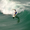 Surfing at the US Open in Huntington Beach California