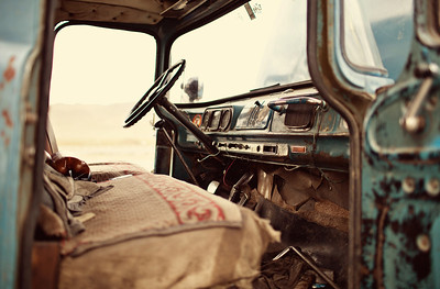 Russian truck in Mongolia