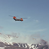 Adak 1974 - a CH 46 and Mt Moffett