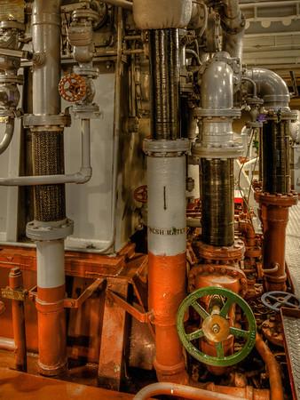 USS Hornet - Pipes