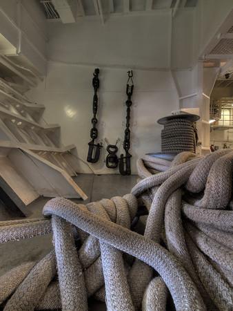 USS Hornet - Fo'c'sle - Ropes