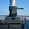 Phalanx guns on USS Iowa Battleship in San Pedro CA