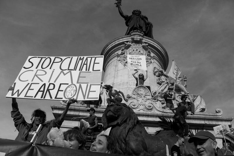 March against global warming, Paris