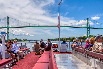 St Laurent-River-Thousand-Islands-boat-under-border-bridge