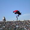 Notre Dame Football Stadium, Tandem Parachutists Arriving
