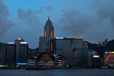 HK Convention Center at dusk