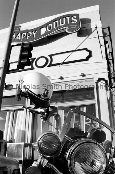 Happy Cop, 1998;  Somewhere in there is a very happy cop (I assume.)  This is located at 4th & Townsend in San Francisco.  *All images and gift items print without the watermark*