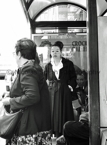 S.F. Beauty, 1997;  This woman caught my eye as she rushed past me to the bus stop, two blocks away. When she stopped and turned around, I held the camera down at waist level and snapped away--unsure what I was capturing at the time. Her look still haunts me.  *All images and gift items print without the watermark*