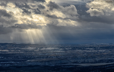 Sunrays at Bryce Canyon