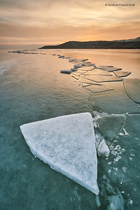 Ice at Sunset