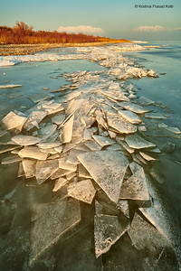Ice Stack in Utah Lake