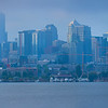Seattle Panorama on a cloudy day