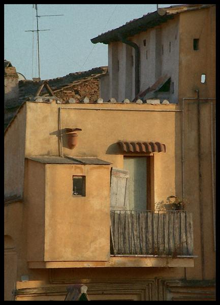 Tetti Romani al Tramonto