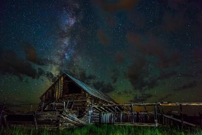 Great Old Barn, Milky Way Night, Pinedale, Arizona