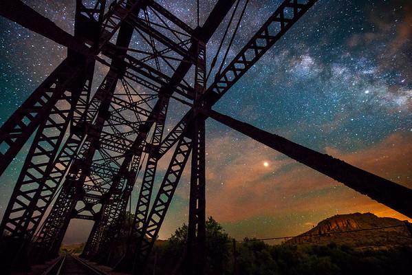 Milky Way and Mars Keeping Watch over Arizona Desert