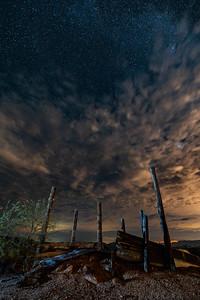 Astrophotography, Four Peaks Corral Stars, Arizona